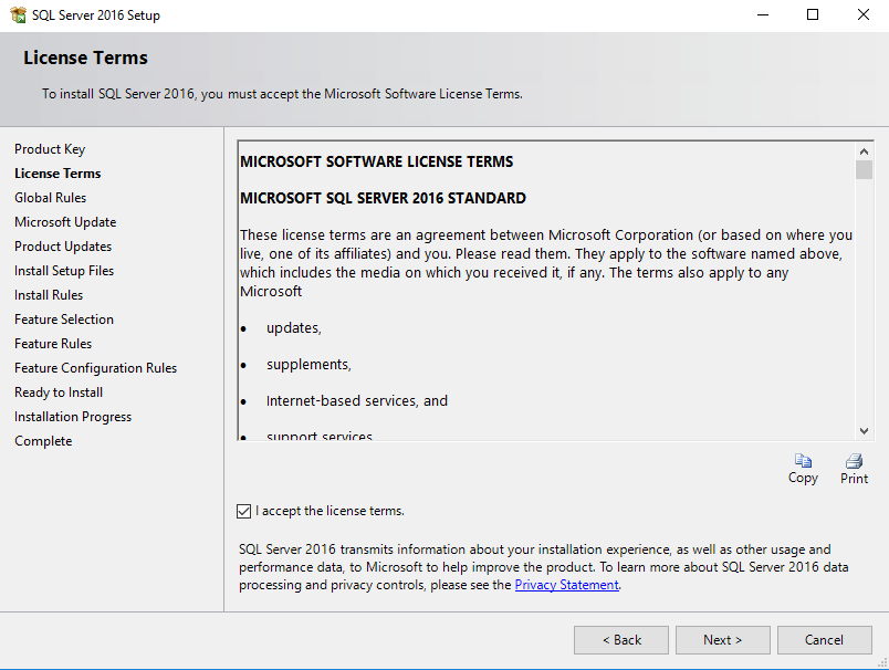 SQL Server licentie voorwaarden