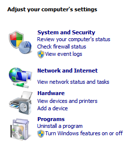 windows 2008 computer settings
