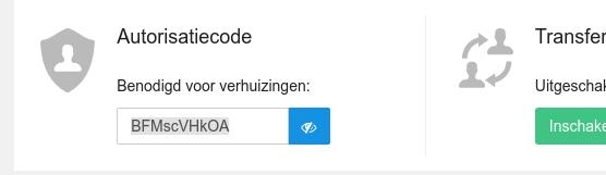 De verhuiscode van een domein