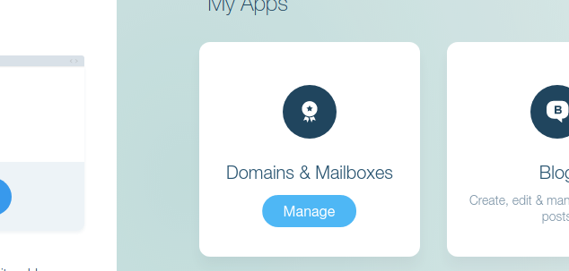 Domains & Mailboxes within Wix.