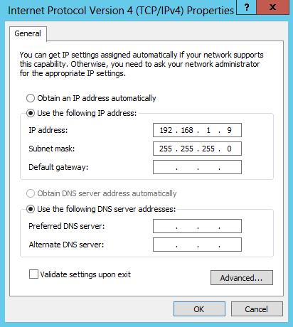 configure private ip