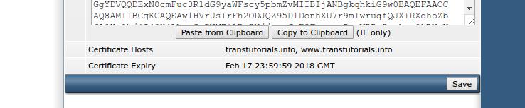 Informatie over het SSL-certificaat