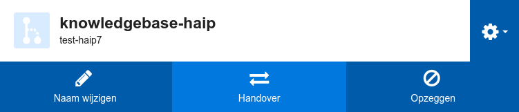 Handover van HA-IP