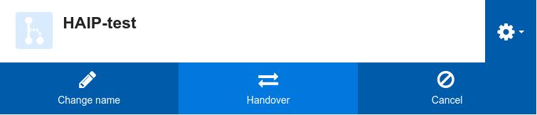 HA-IP handover