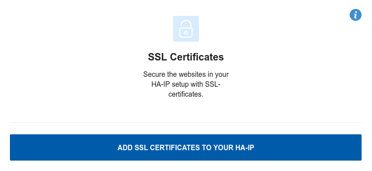 Install an SSL certificate for HA-IP