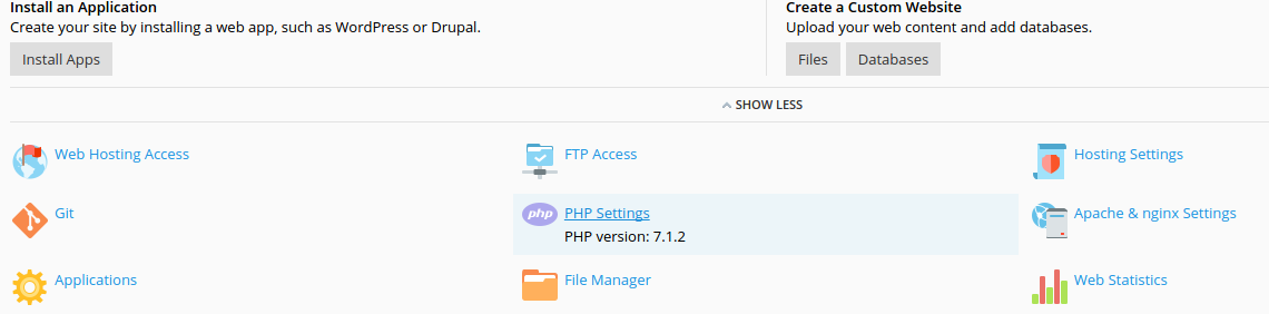 the current PHP version
