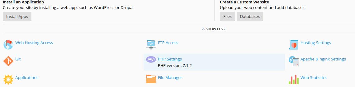 De huidige PHP-versie
