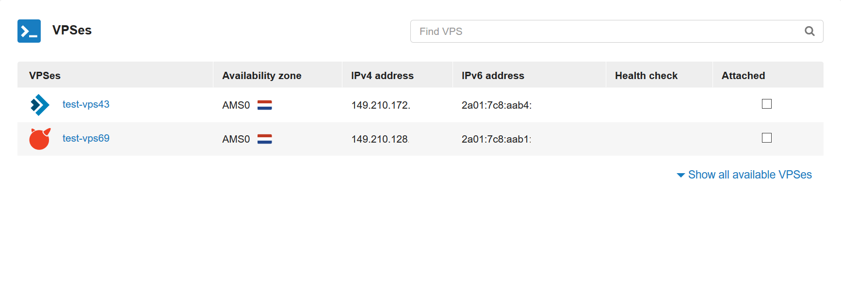 ha-ip pro attach VPS's