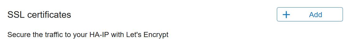 HA-IP SSL overview