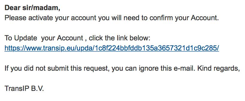 phishing mailing