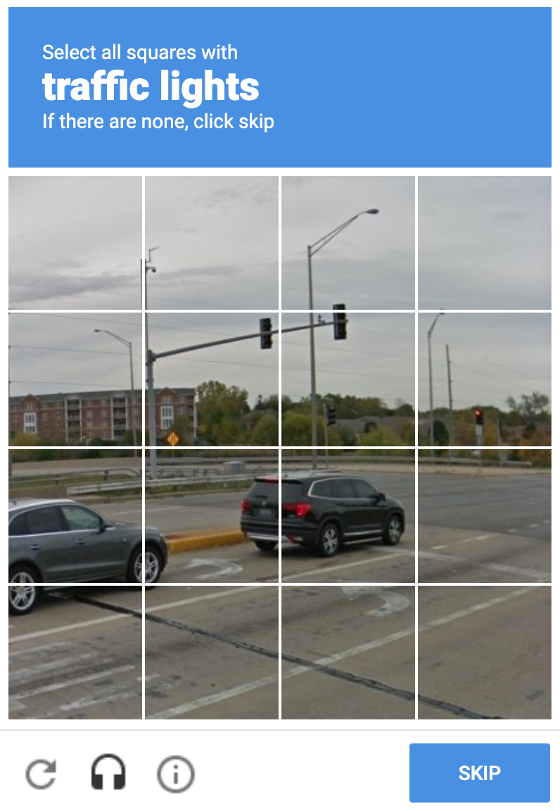 captcha traffic lights sample