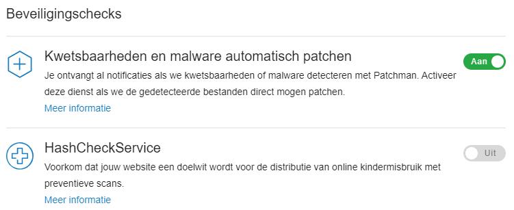 healthchecker patchman automatisch patchen ingeschakeld