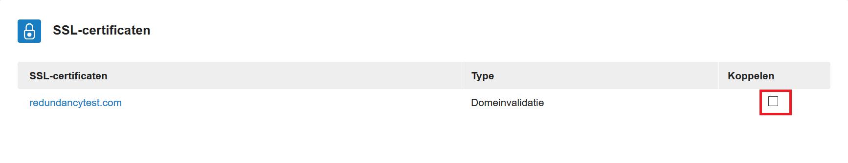overzicht voor HA-IP beschikbare SSL-certificaten