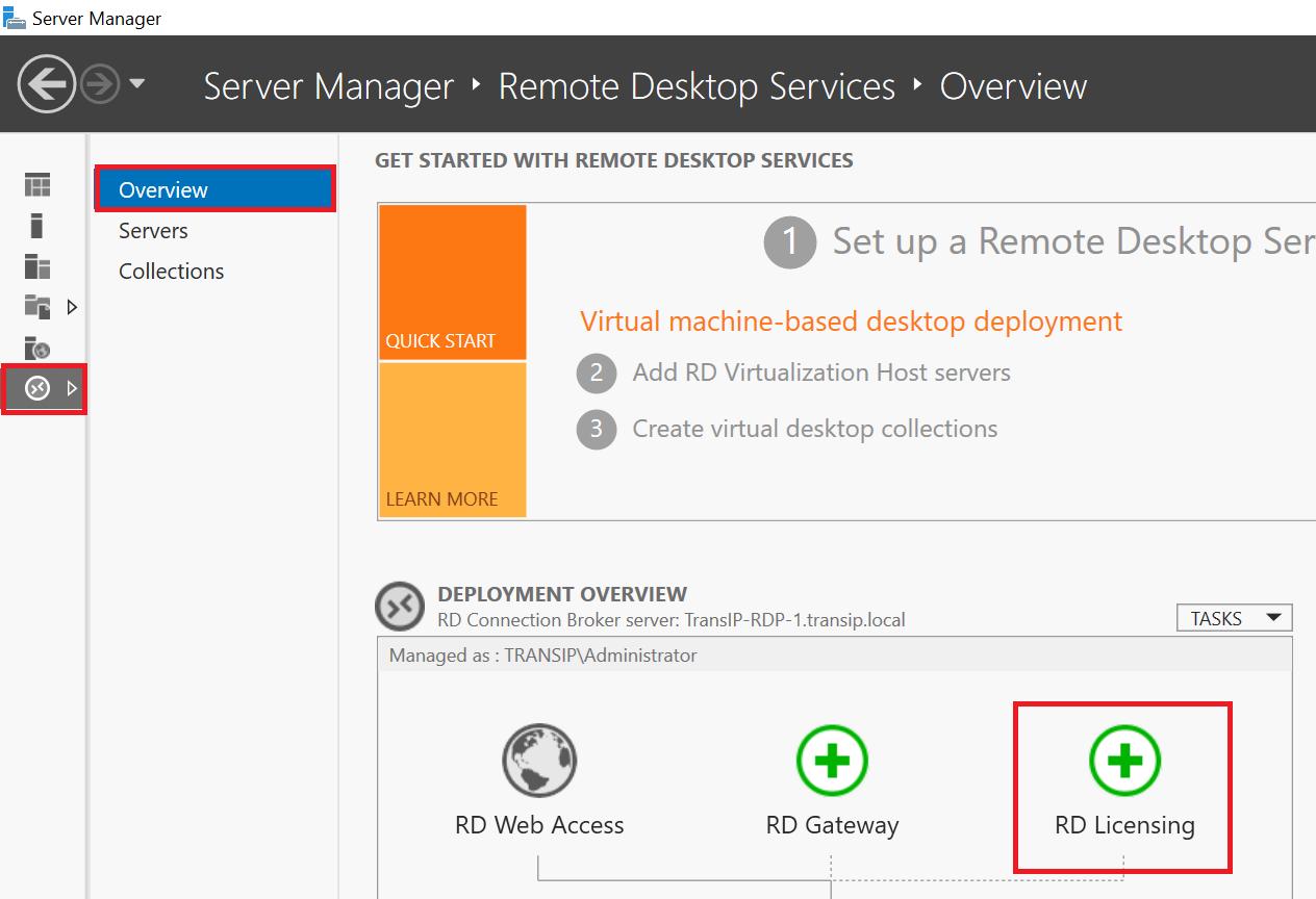 server manager remote desktop services rd licensing