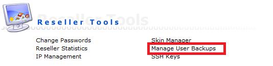 directadmin reseller manager user backups