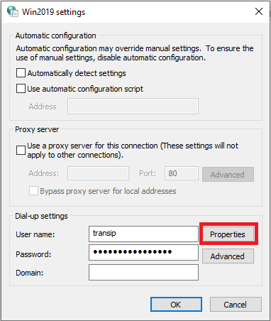 internet properties settings properties