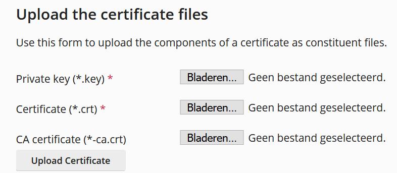 Plesk upload SSL certificate files