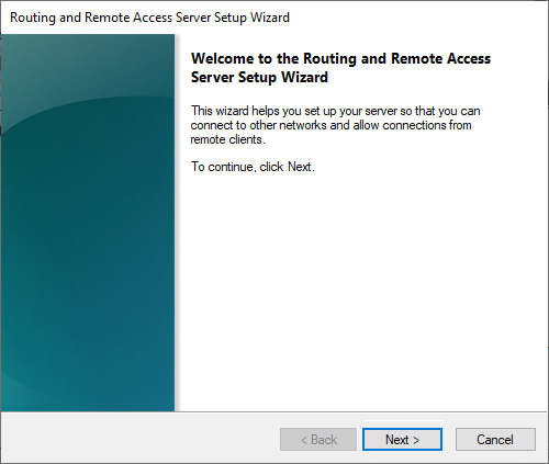 routing remote access wizard start