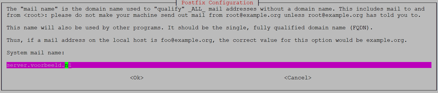ubuntu postfix configuration mail name