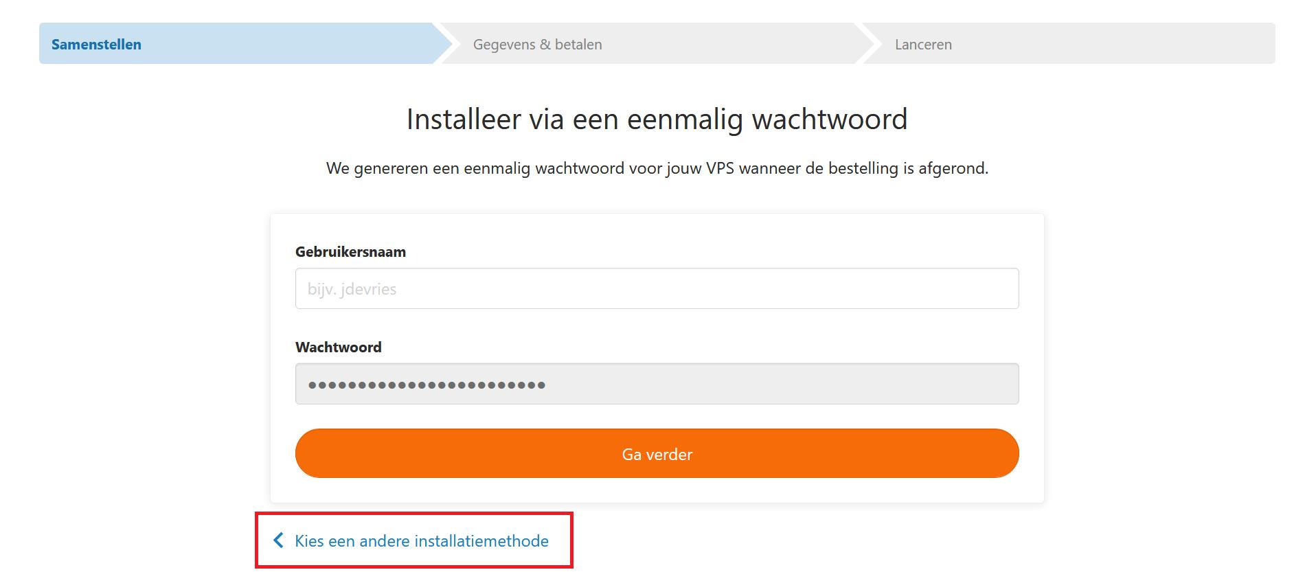 fast installs wachtwoord
