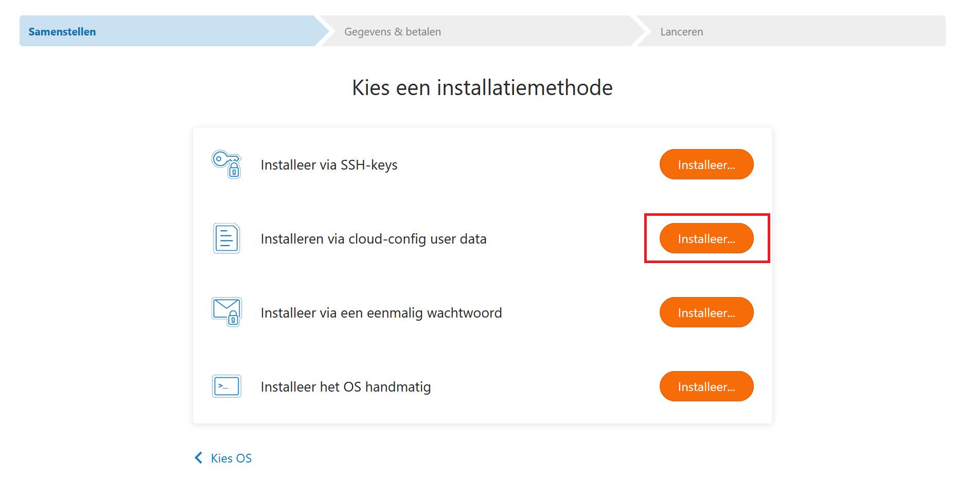 fast installs kies methode cloud config