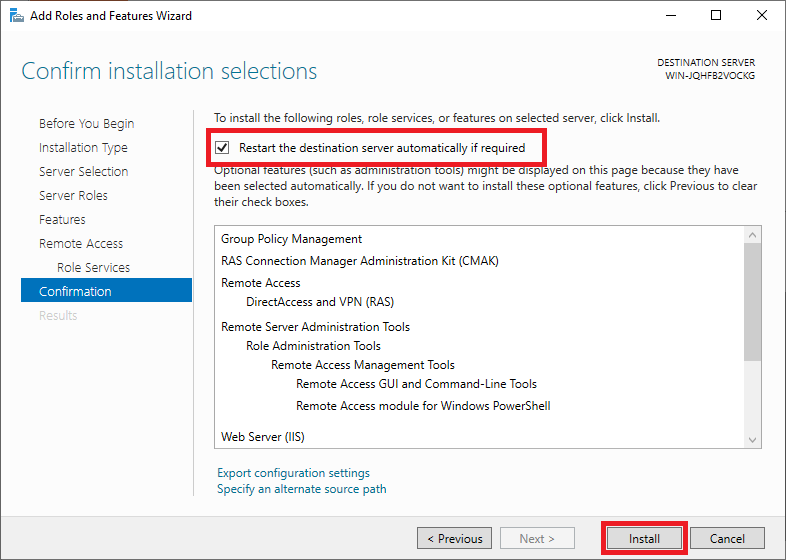 windows add remote access role confirmation