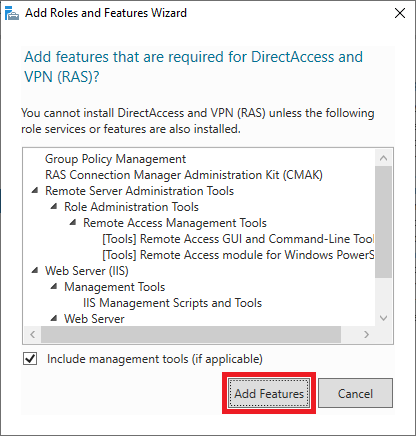 windows add directaccess features