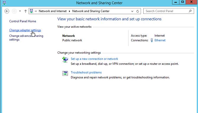 windows 2012 network center